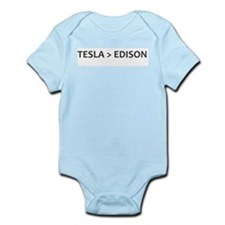 Tesla vs Edison Infant Bodysuit