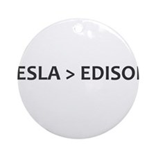 Tesla vs Edison Ornament (Round)