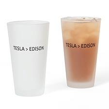 Tesla vs Edison Drinking Glass
