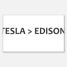 Tesla vs Edison Decal