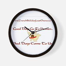 GoodDogsGoToHeaven.png Wall Clock