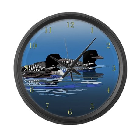 loon family large wall clock by zodiarts