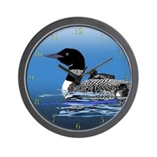 loon with babies Wall Clock