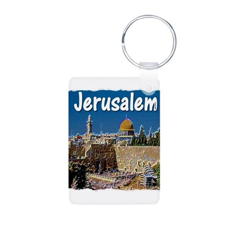 jerusalem Aluminum Photo Keychain