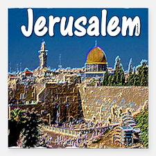 "jerusalem Square Car Magnet 3"" x 3"""