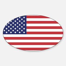 USA American Flag Oval Decal