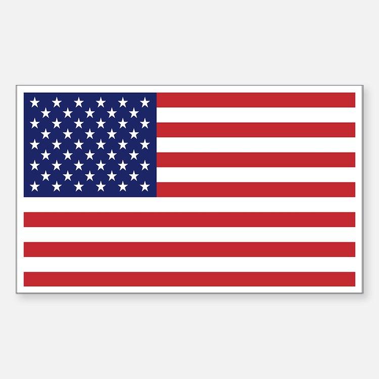 USA American Flag Rectangle Decal