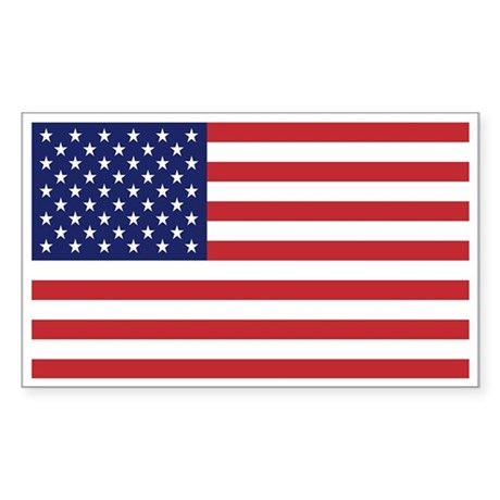USA American Flag Rectangle Sticker