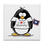 Wyoming Penguin Tile Coaster