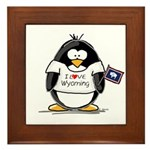 Wyoming Penguin Framed Tile