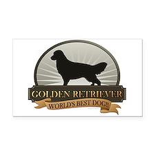 Golden Retriever Rectangle Car Magnet