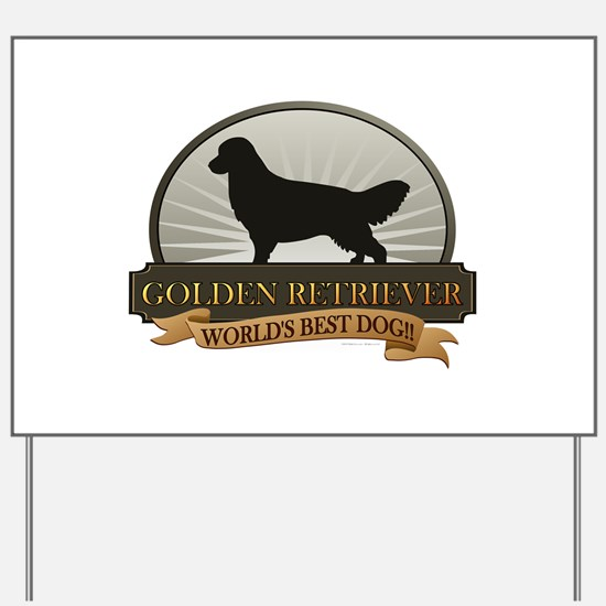 Golden Retriever Yard Sign