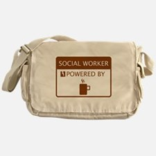 Social Worker Powered by Coffee Messenger Bag
