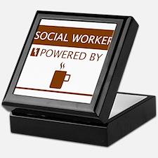 Social Worker Powered by Coffee Keepsake Box