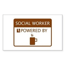 Social Worker Powered by Coffee Decal