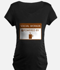 Social Worker Powered by Coffee T-Shirt