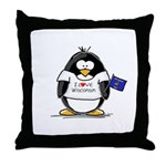 Wisconsin Penguin Throw Pillow