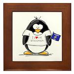 Wisconsin Penguin Framed Tile