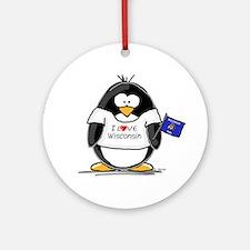 Wisconsin Penguin Ornament (Round)
