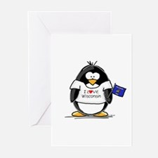 Wisconsin Penguin Greeting Cards (Pk of 10)