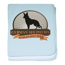 German Shepherd baby blanket