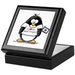 West Virginia Penguin Keepsake Box