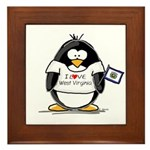 West Virginia Penguin Framed Tile