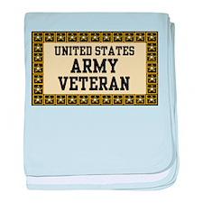 UNITED STATES ARMY VETERAN baby blanket