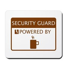 Security GuardPowered by Coffee Mousepad