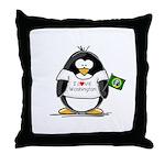 Washington Penguin Throw Pillow