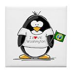 Washington Penguin Tile Coaster