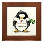 Washington Penguin Framed Tile