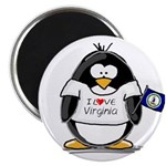 Virginia Penguin Magnet