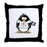 Virginia Penguin Throw Pillow