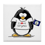 Virginia Penguin Tile Coaster