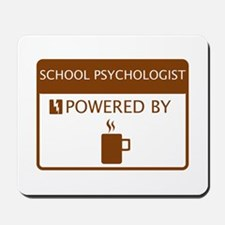 School Psychologist Powered by Coffee Mousepad