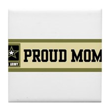 us army proud mom Tile Coaster