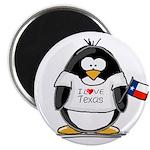 Texas Penguin Magnet