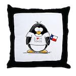 Texas Penguin Throw Pillow