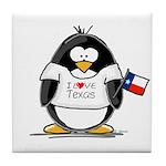 Texas Penguin Tile Coaster