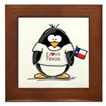 Texas Penguin Framed Tile
