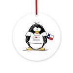 Texas Penguin Ornament (Round)