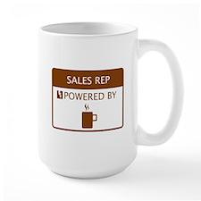 Sales Rep Powered by Coffee Mug