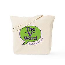The V Word logo Tote Bag