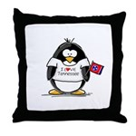 Tennessee Penguin Throw Pillow