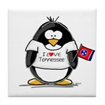 Tennessee Penguin Tile Coaster