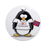 Tennessee Penguin Ornament (Round)