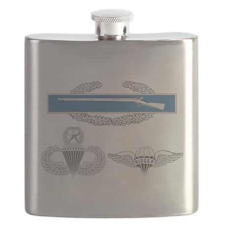 CIB Airborne Master Rigger Flask