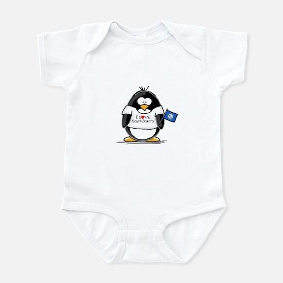 South Dakota Penguin Infant Creeper