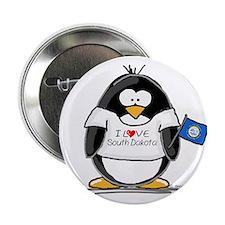 South Dakota Penguin Button
